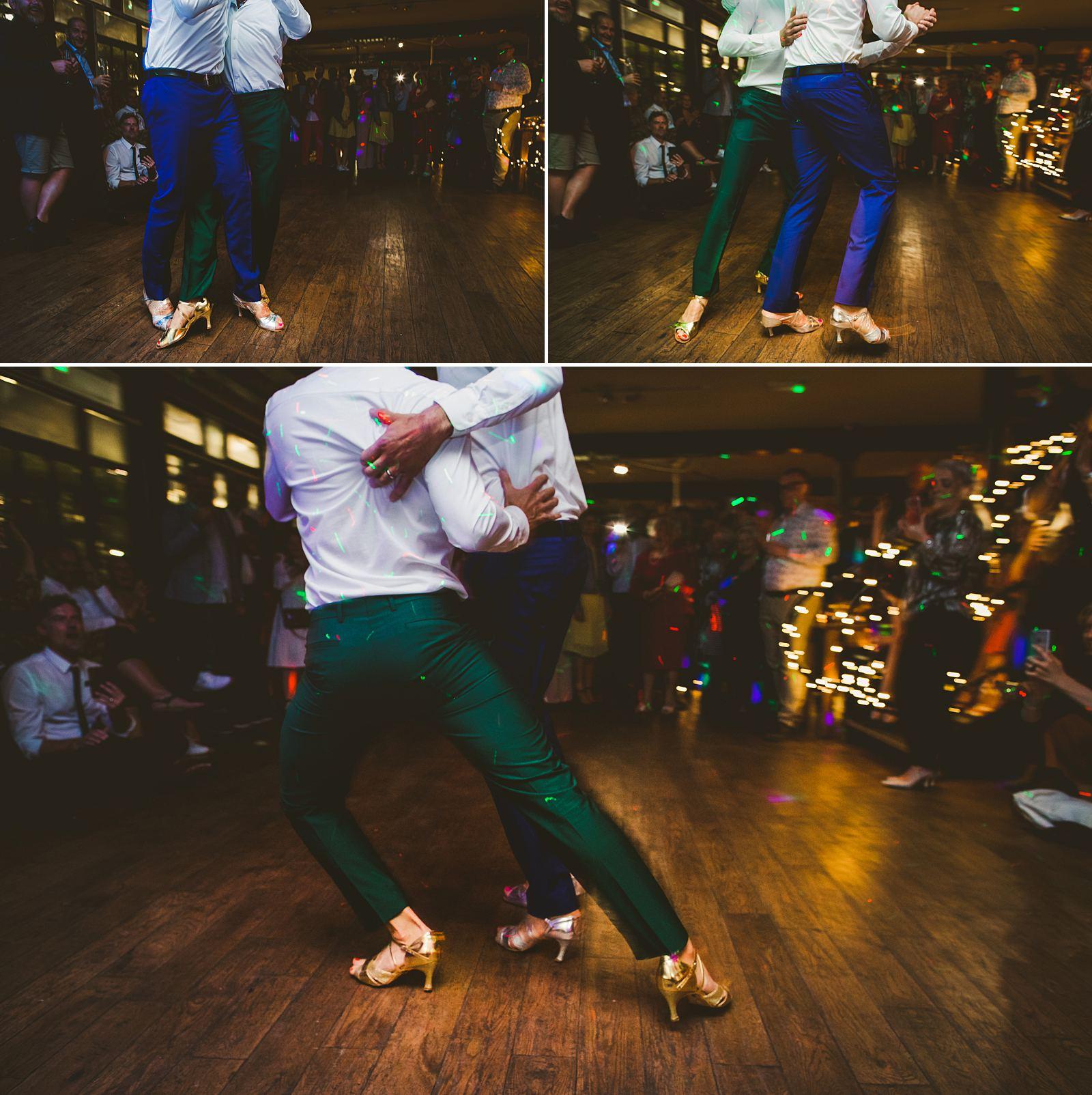 Gay couple first dance London wedding