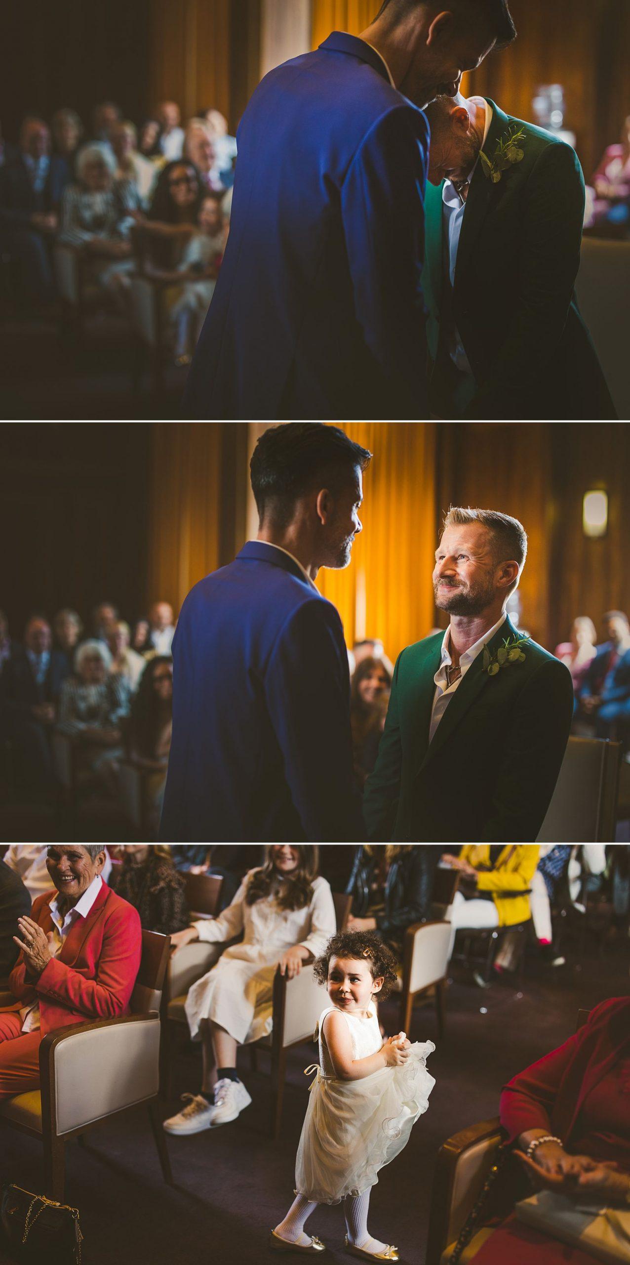 Gay wedding Stoke Newington Town Hall London