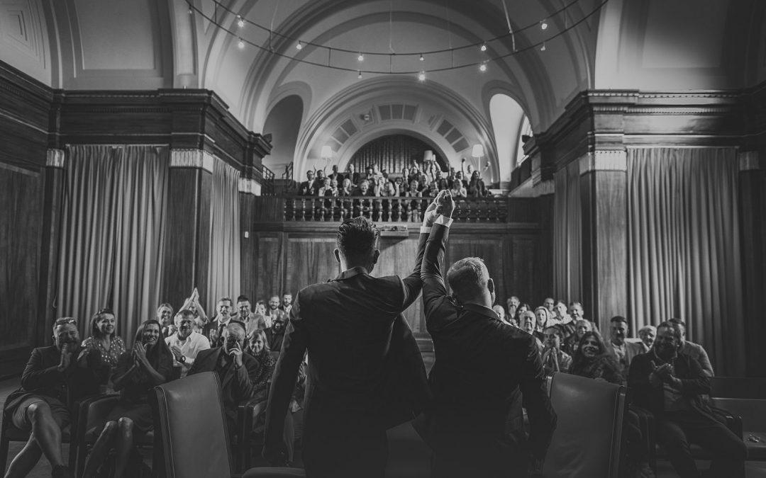 London wedding photographer | Stoke Newington Town Hall | Roger+Tom