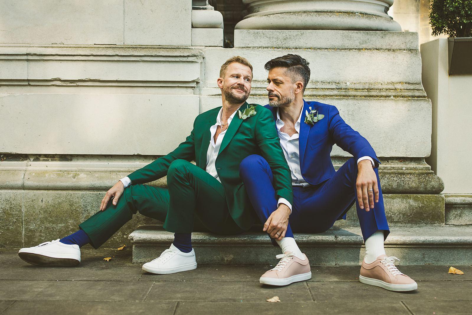 Gay wedding portraits London