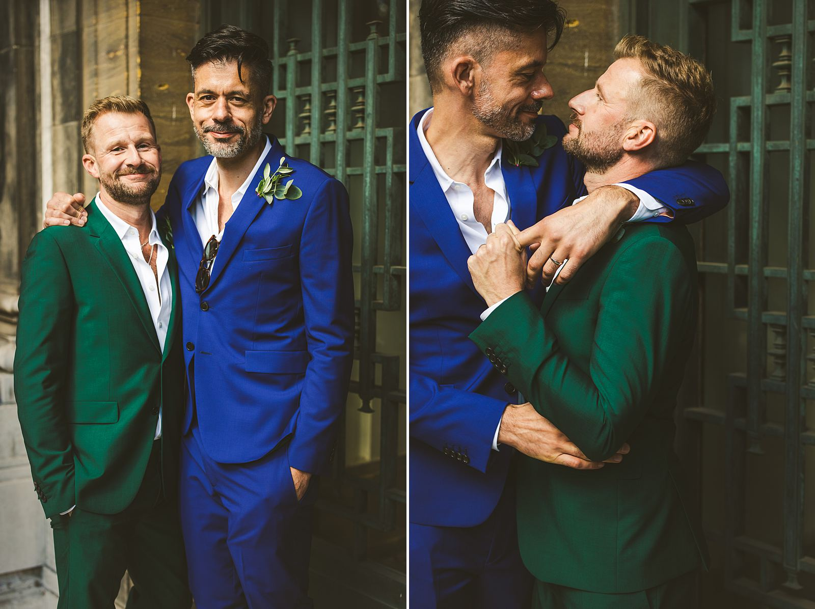 Gay wedding portraits London
