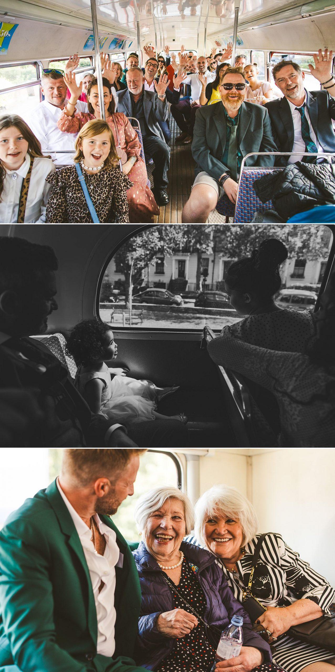 London bus gay wedding photography