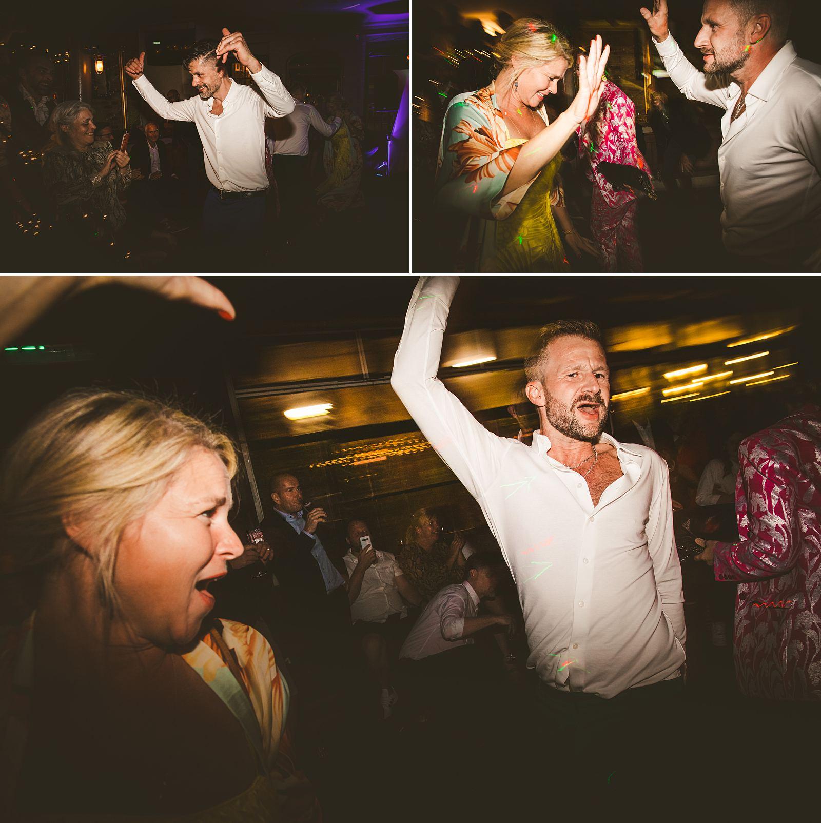 London wedding guests dancing