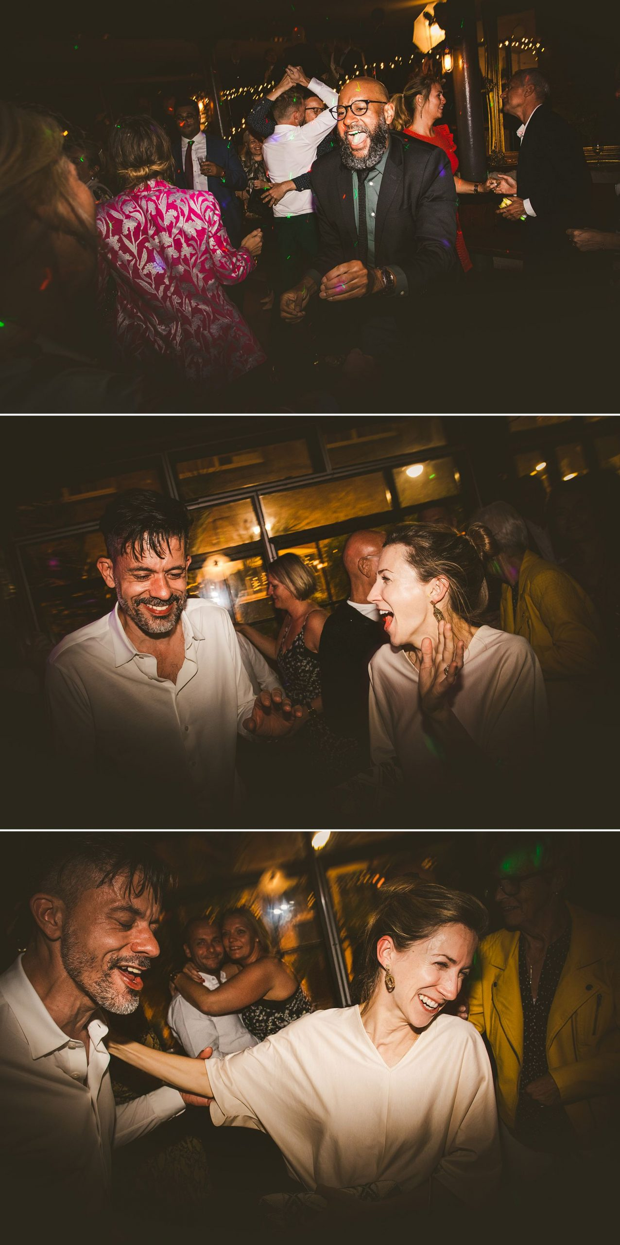 London wedding photography guests dancing