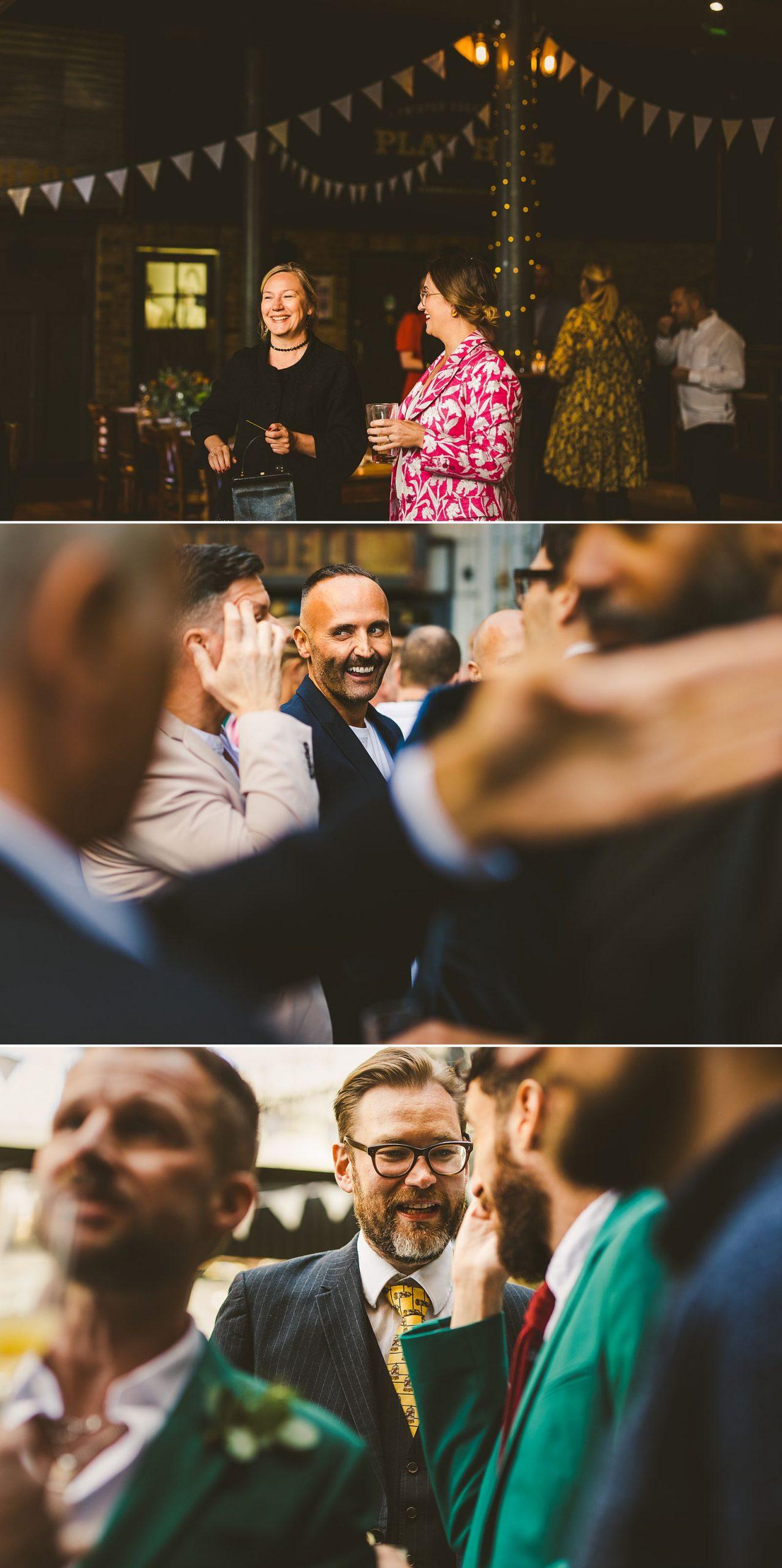London wedding reception gay couple