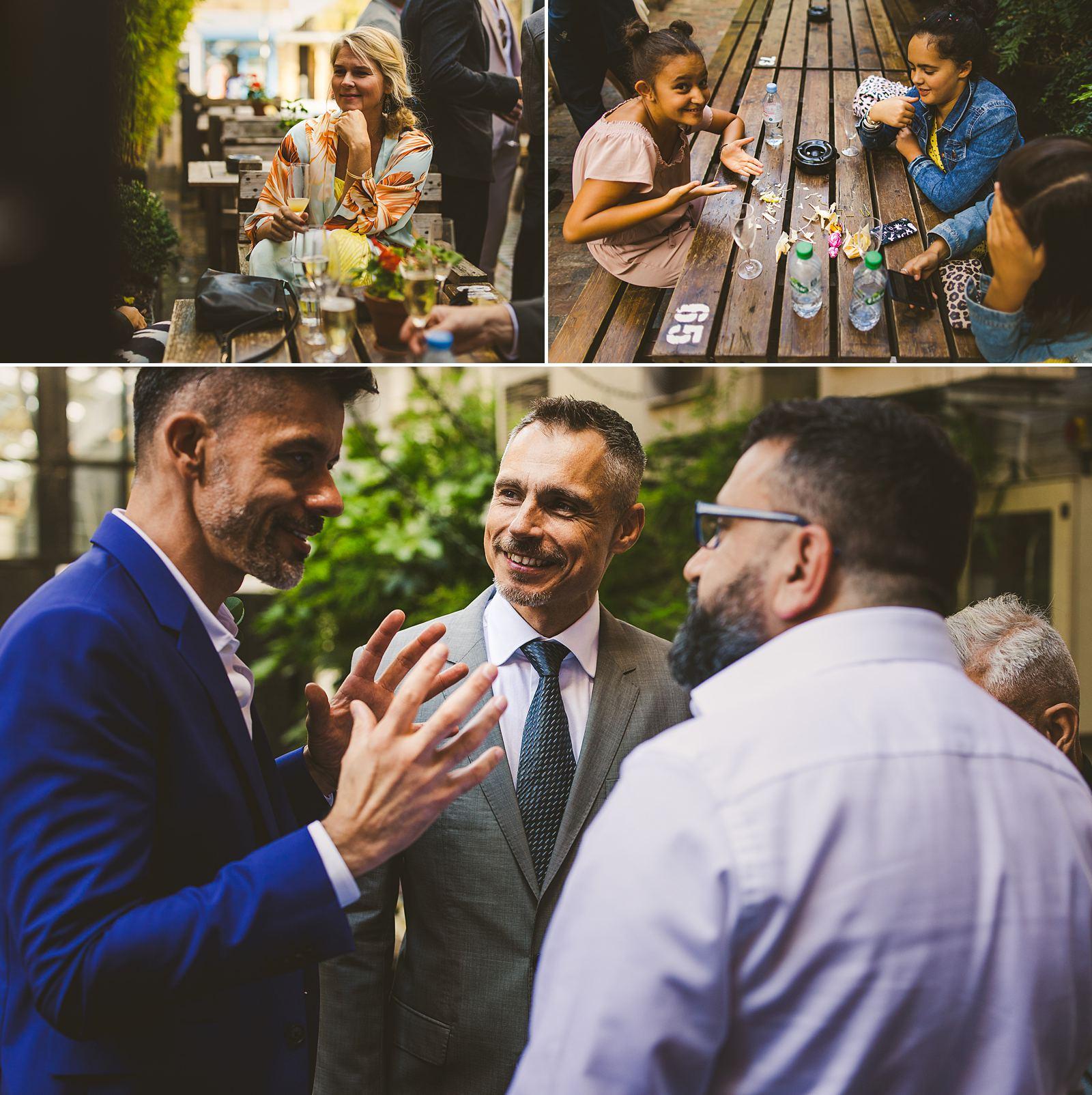London wedding reception