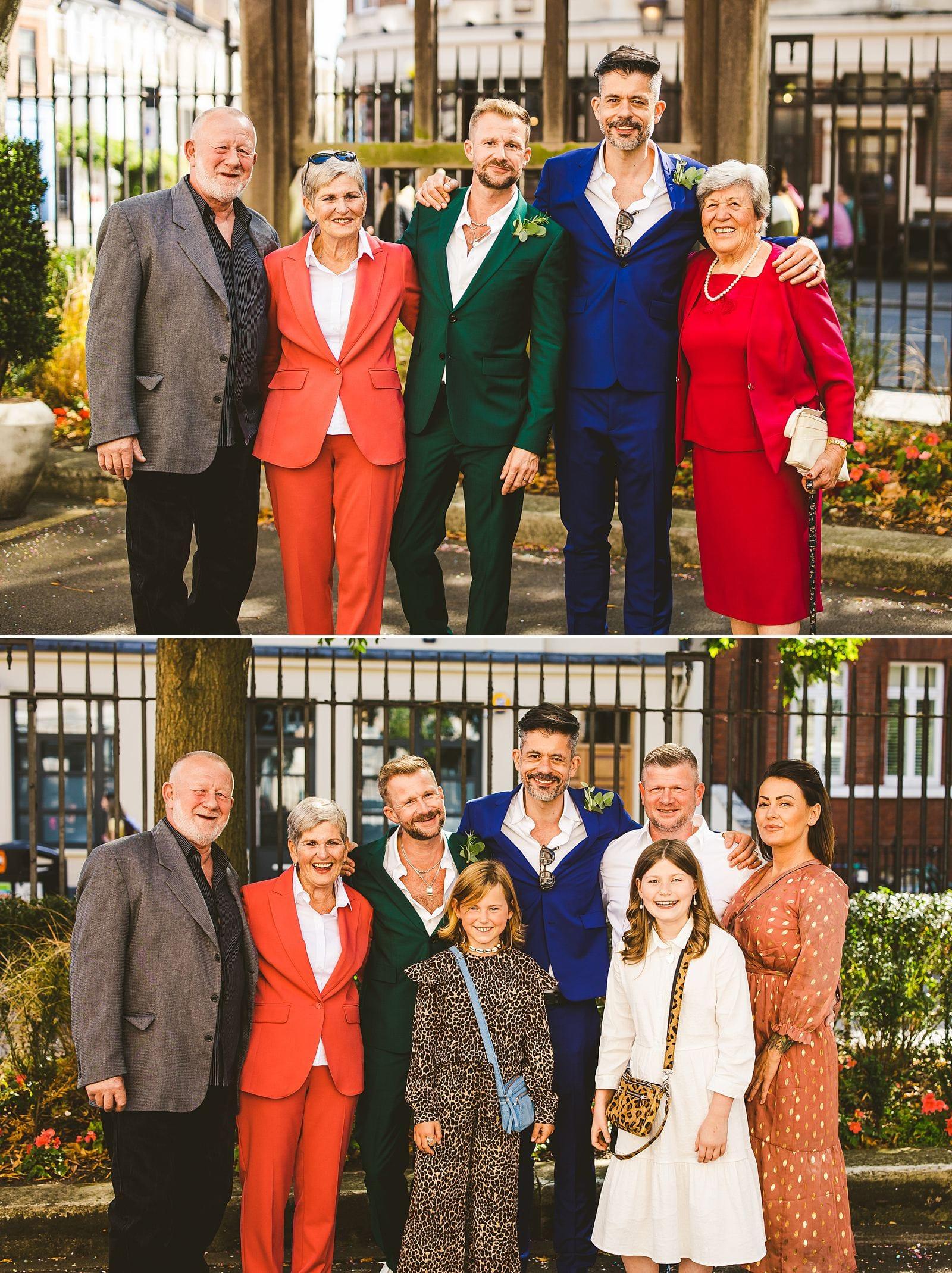 Wedding family portrait London