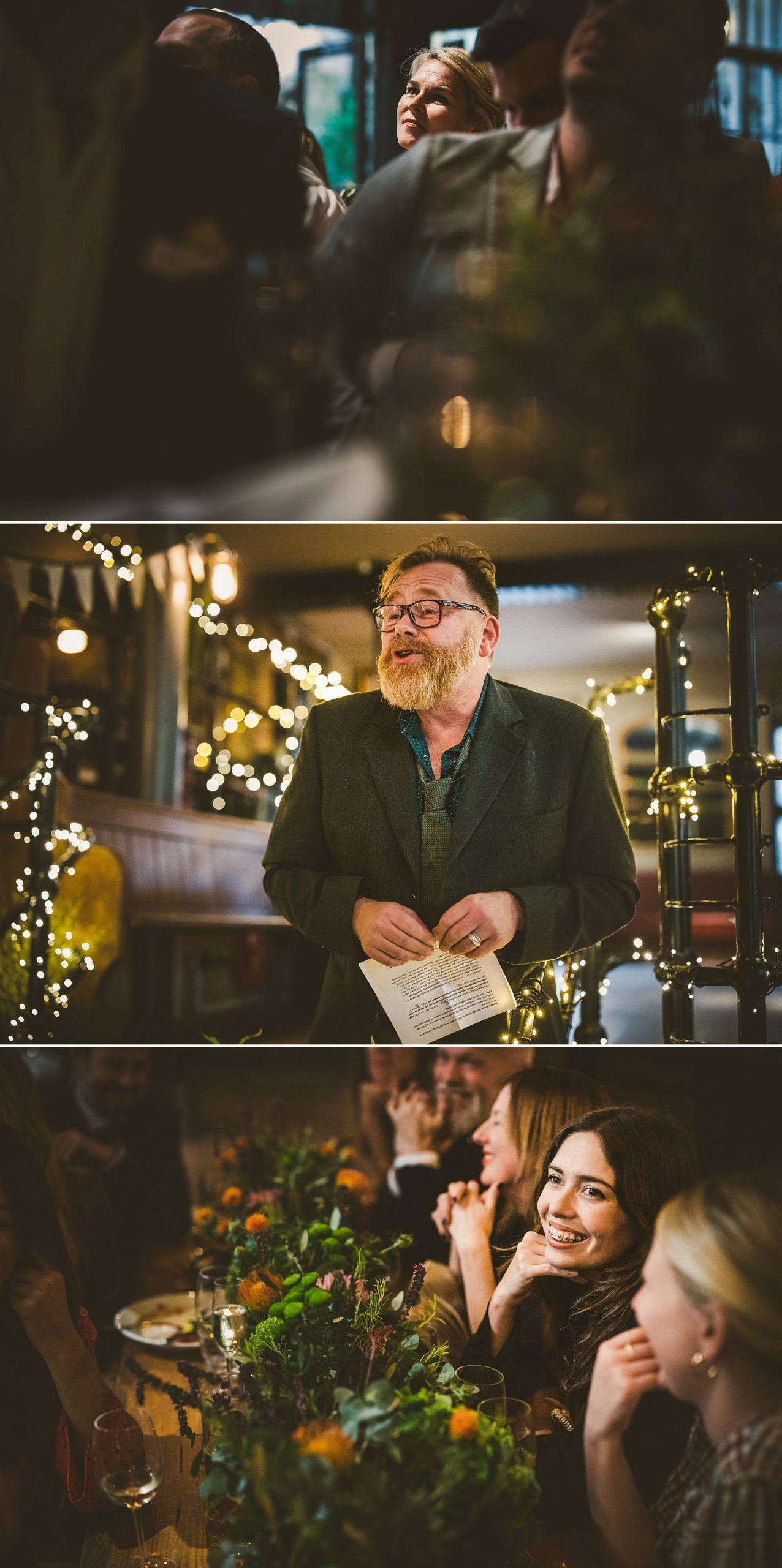 Wedding speeches London wedding photography