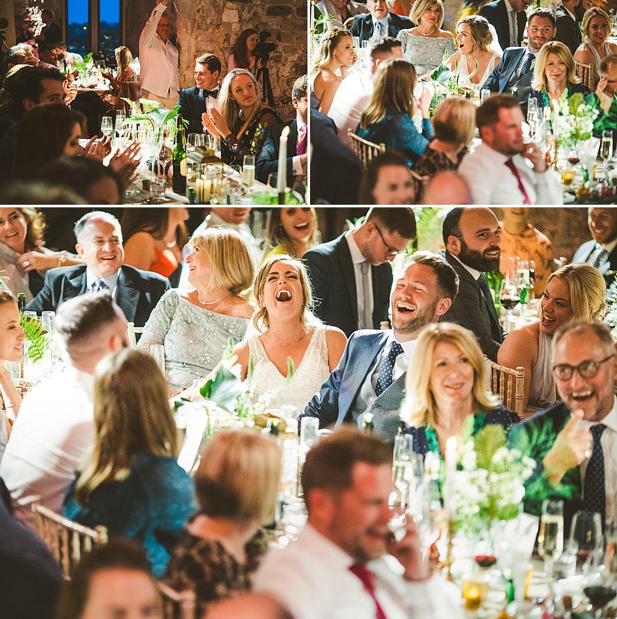 Wedding photography speeches Lulworth castle Dorset