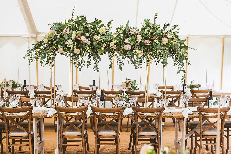 Marquee wedding floral arrangement ideas wedding flowers