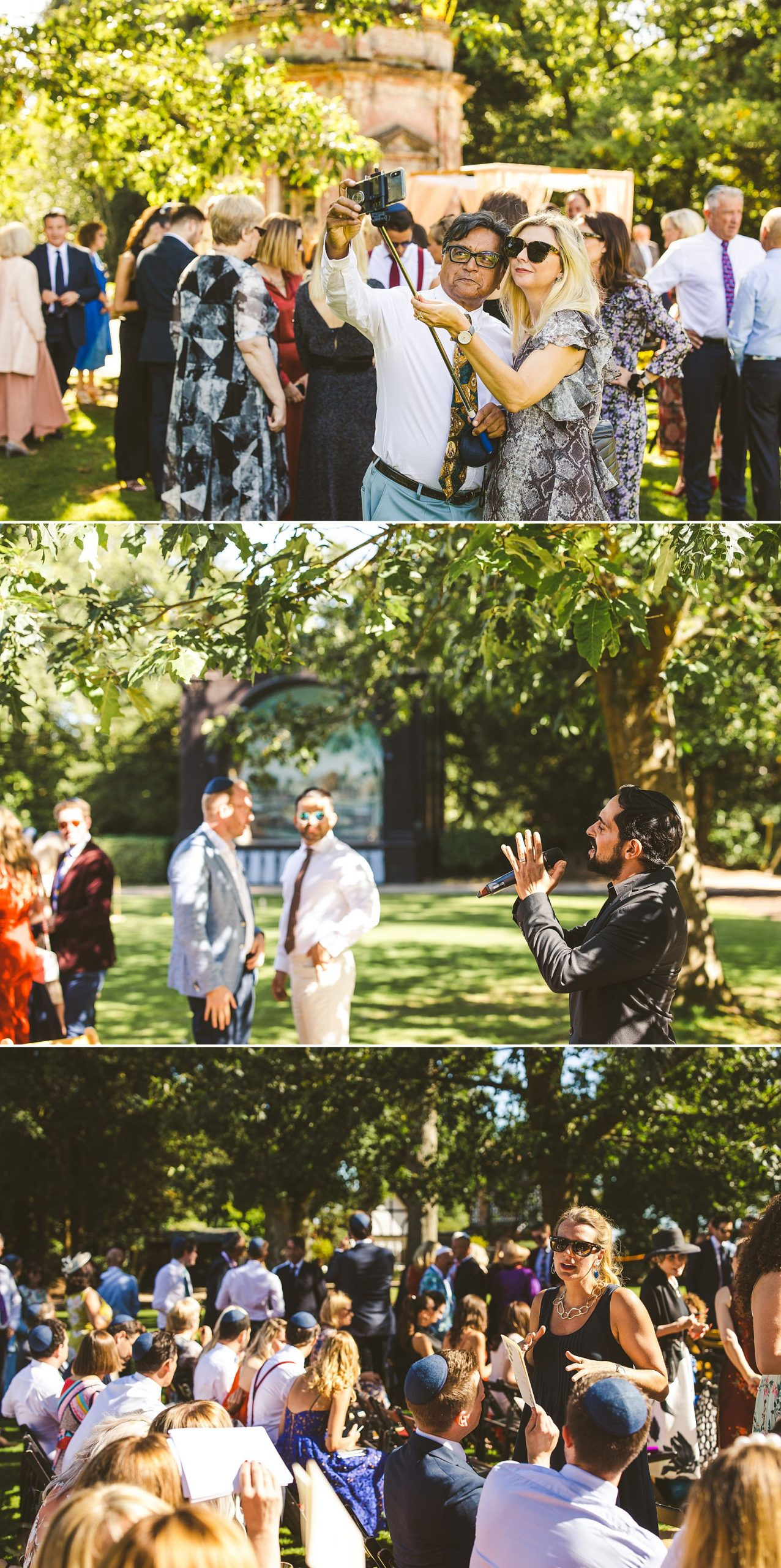 Outdoor wedding Larmer Tree Gardens