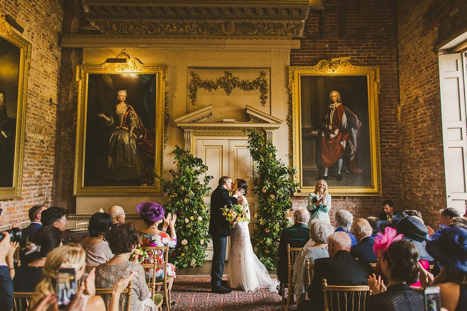 St Giles House floral arche wedding flowers