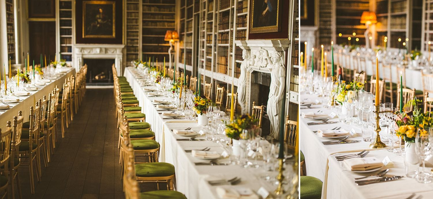 Wedding table styling ideas candles colour