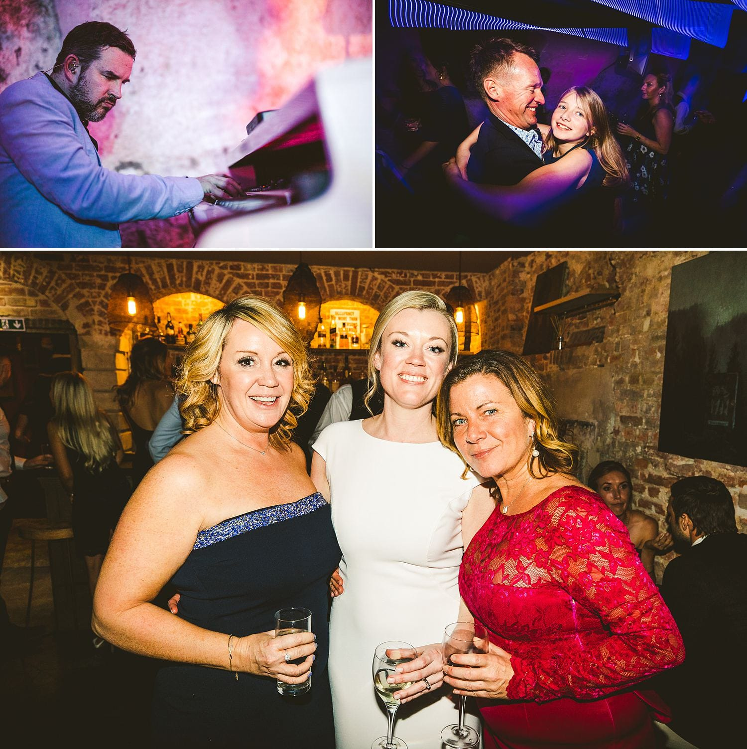 Guest dancing St Giles House wedding