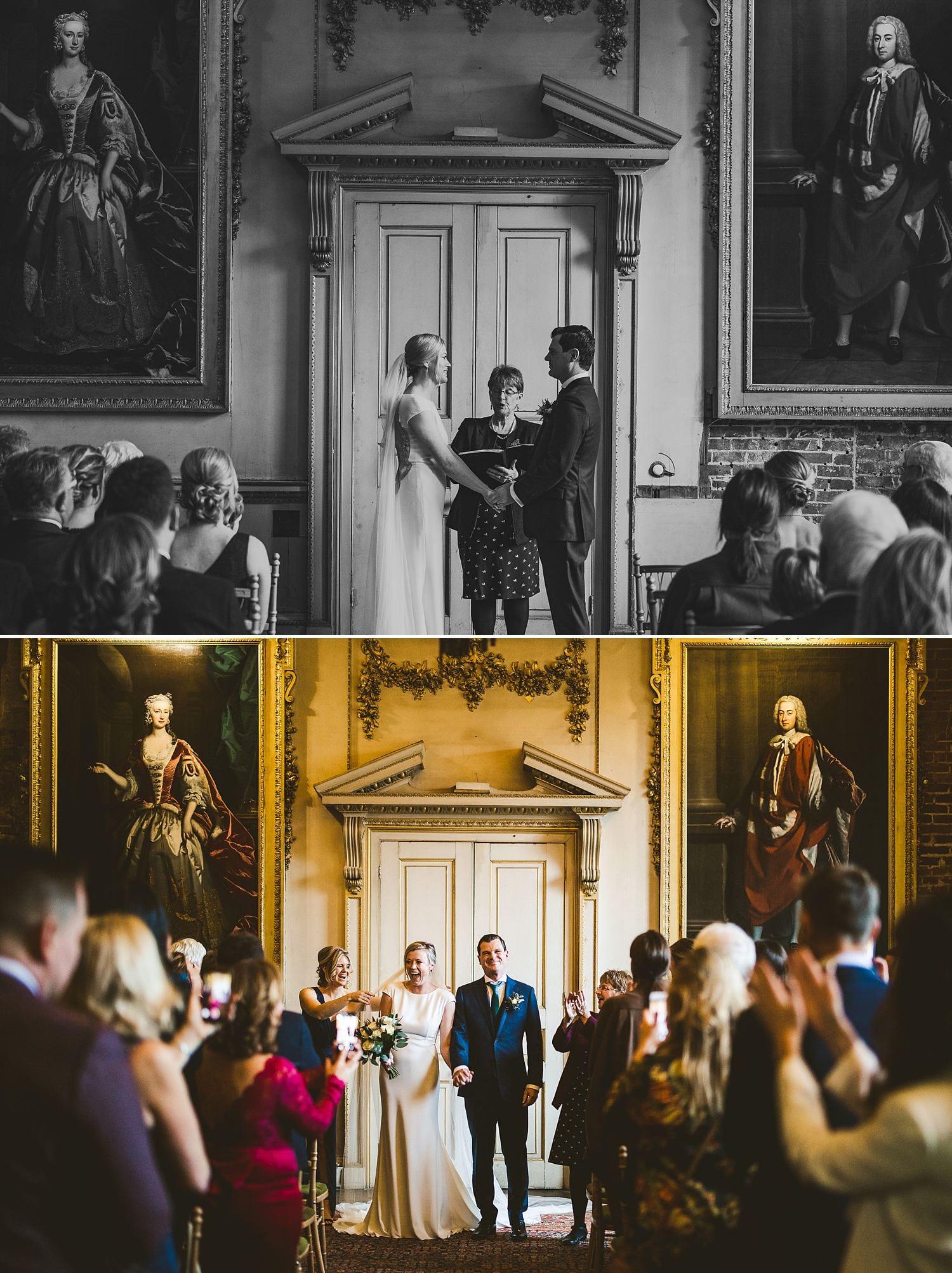 St Giles House wedding ceremony winter