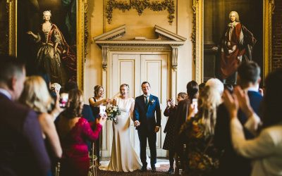 St Giles House Winter Christmas Wedding | Caroline+Angus