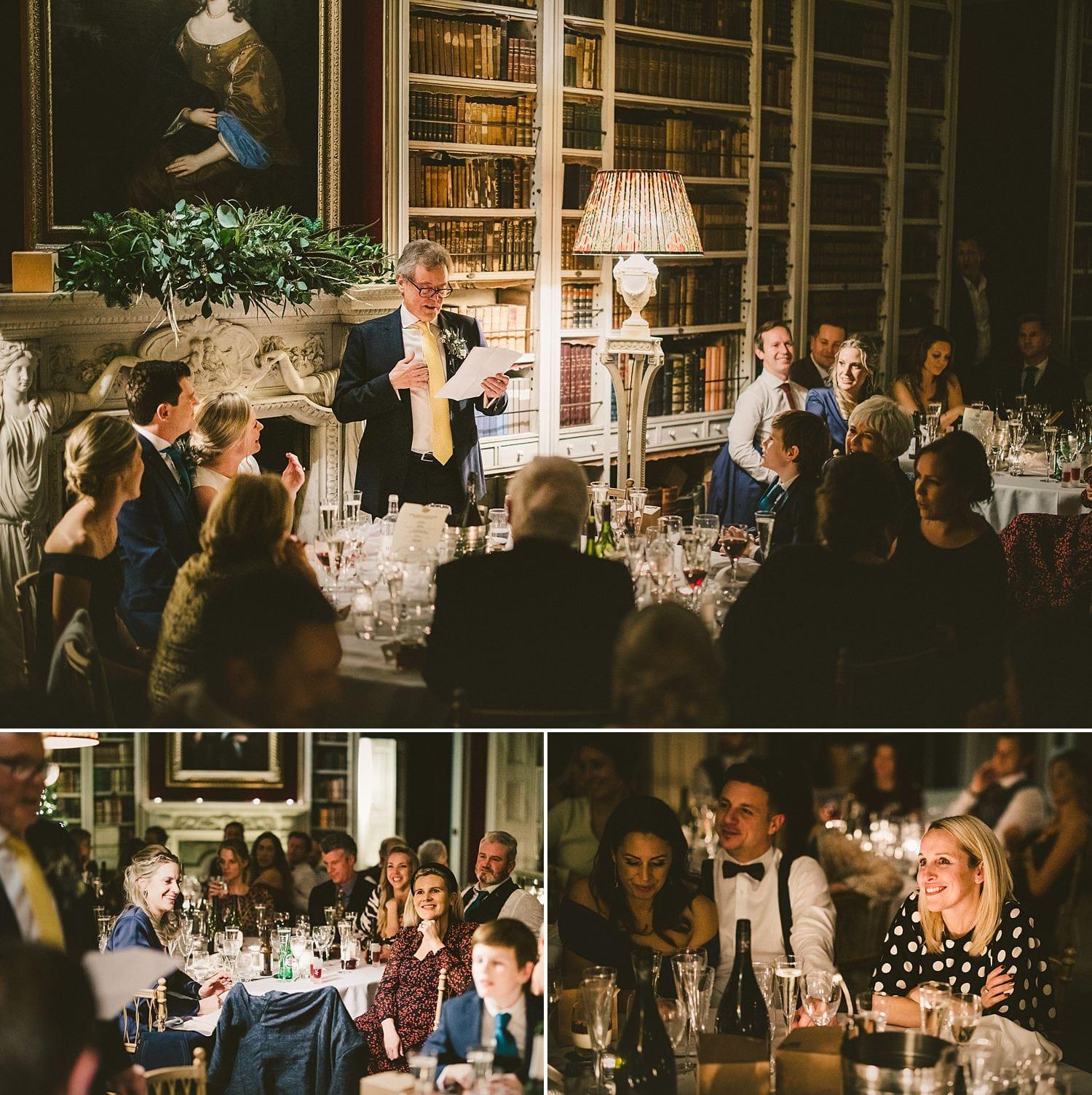 Wedding speeches St Giles House