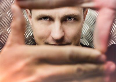 Music artist producer creative portrait