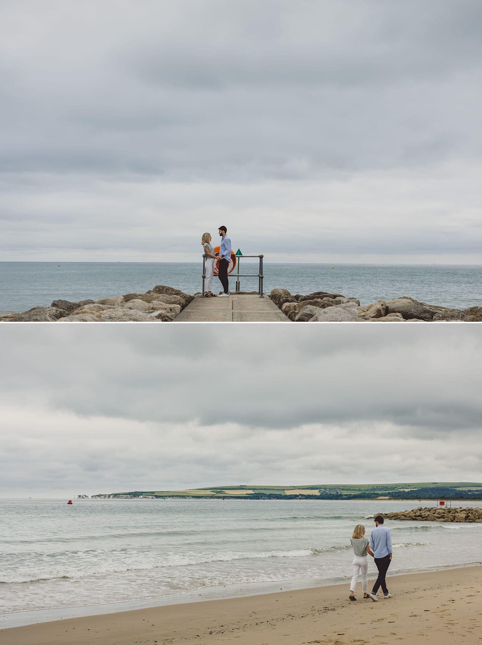 Sandbanks pre-wedding shoot by Dorset photographer